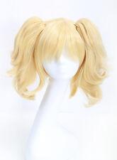 COSLIVE Batman Harley Quinn Golden Yellow Wig Lolita Hair Halloween
