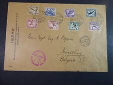 DR 1936, Olympiafahrt, großformatiger Satzbrief, SI 427 Bb