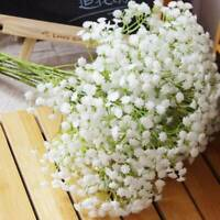 3 x Artificial Gypsophila Fake Silk Flowers Baby Breath Bouquet Home Decor White