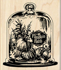 Pumpkin Patch Thanksgiving Dinner Invitation Fall  wood rubber stamp  3.5x3.25""