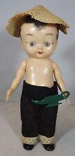 """VINTAGE 1950s 7"""" in plastica rigida PEDIGREE Aladdin bambola con le mani STELLA MARINA"""