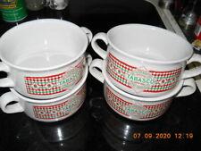 Set of 4 Tabasco Soup Bowls w/ Handles
