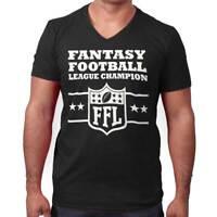 Fantasy Football Champion Sports Draft Team V-Neck Tee Shirts T-Shirt For Mens