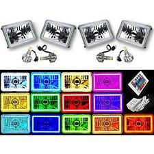 "4X6"" IR Color Change RGB SMD Halo Angel Eye Headlight 24W 6K LED Light Bulb Set"