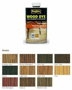 Rustins Wood Dye 250ML / 1L  ALL COLOURS STOCKED