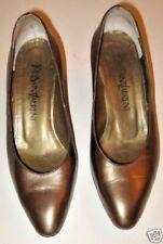 Yves Saint Laurent Shoes Gold Metallic Vintage 1980's Size 6
