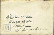 1936 Edward VIII Envelope Sandringham to Kings Lynn Boxed ERI VIII.