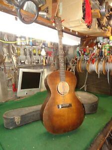 Regal Tenor Acoustic Guitar, Brown, Need repair for parts project