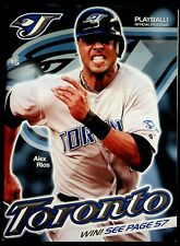 2008 September Toronto Blue Jays Playball Official Program vs Minnesota Twins