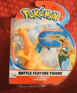 "Charizard Pokemon Battle Feature Figure Deluxe Action 4.5"" Series. Mint A+Seller"