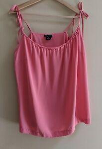 City Chic Sleeveless Singlet Top Size XS Pink