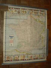Affiche Carte France Accumulateur FULMEN Grenerche 1955