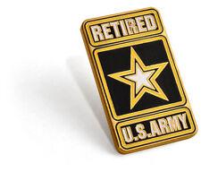 Bronze Lapel Pin U.S. Army Retired -