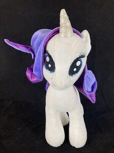 My Little Pony Unicorn RARITY White Purple Diamonds Plush Toy 11 In MLP Stuffed