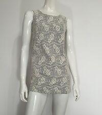 Promod abito vestito corto fiori rose dress kleid manica corta tg 40 42 S T802
