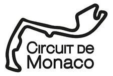 Monaco course circuit. voiture de vinyle autocollant français du F1 grand prix formula one