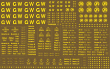 Modelmaster GW302 GWR Pass Stock Lettering OO Gauge Transfers