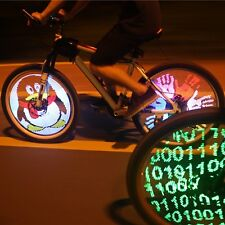 Bicycle Motorcycle Car Bike Tyre Tire Wheel Valve Flash Spoke Light Lamp 128 LED
