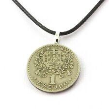 Collier pièce de monnaie Portugal 1 escudo