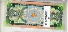 Lot de 5 billets de Banque neufs du Nicaragua tous différents - Banknotes