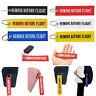 6 Colors Remove Before Flight Key Ring Luggage Tag Bag Car Keyring Key Chain Top