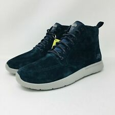*NEW* Skechers On The Go City High Top (Men's Size 9) Suede Athletic Shoe Blue