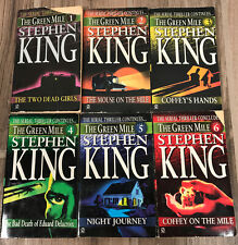 The Green Mile 1996 Stephen King First Printing Complete Set 1-6 Signet Pb Books