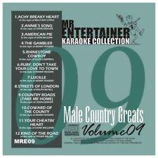Mr Entertainer Karaoke MRE09  Male Country Greats  CDG