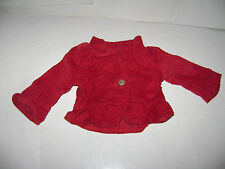 American Girl DOLL Red Cardigan Corduroy Sweater Jacket Replacement Photographer