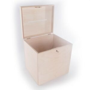Large Lockable Plain Wooden Box With Slot / Post Wedding Cards / Wishing Well