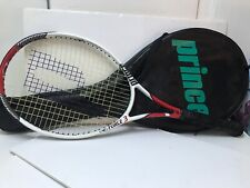 """Prince Force 3 Oversize Tennis Racket 4 5/8"""" Grip w/ Shoulder Strapped Cover"""