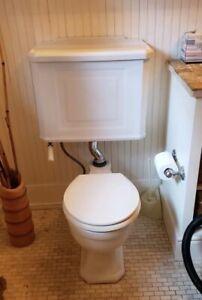 Vintage John Douglas Gloria Gooseneck Toilet & Tank
