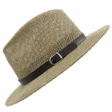 Men Women Straw Hats Panama Sombrero Wide Brim Sunhat Fedora Trilby Summer Caps