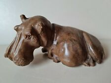 More details for polished stone hippo hippopotamus ornament 6.5cm tall x 13cm long