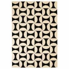 Vidaxl Tapis moderne Design Géométrique 160 x 230 cm Beige / Noir