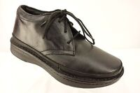 DREW Keith Solid Black Leather Orthotics Lace Up Sneaker Shoe Men's Size 7 4W