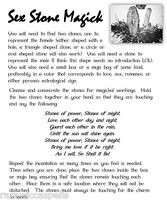 Sex Stone Magick Spell for Love for ur Wicca Book of Shadows Pagan Occult Ritual