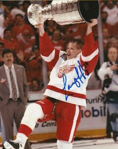 LARRY MURPHY SIGNED DETROIT RED WINGS 1997 STANLEY CUP 8x10 PHOTO HHOF Autograph