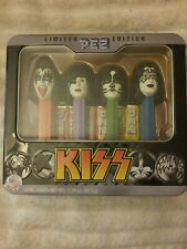 "PEZ ""KISS"" Limited Edition 2012 TIN - 4 - PEZ DISPENSERS W/CANDY"
