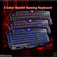 Cool USB Wired Crack Illuminated LED Backlight Multimedia PC Gaming Keyboard UK