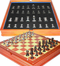 Staunton Themed Chess Set. Weighted Pieces Wood Board