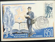 FRANCE PREMIER JOUR FDC YVERT 863 JOURNEE DU TIMBRE  12F+3F CACHET PARIS 1950