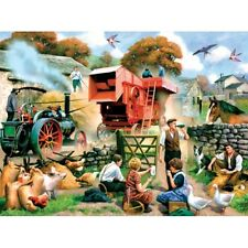 SUNSOUT JIGSAW PUZZLE ENGLISH FALL KEVIN WALSH 1000 PCS FARM ANIMALS #13681