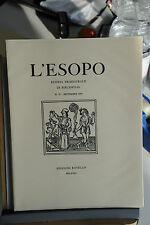 L'ESOPO RIVISTA TRIMESTRALE DI BIBLIOFILIA - N. 59 SETTEMBRE 1993