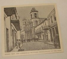 1895 magazine engraving~ BURIAL PLACE CHRISTOPHER COLUMBUS, Cuba