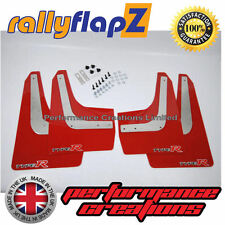 Mudflaps rallyflapZ HONDA CIVIC TYPE R (FN2) 07-10 Red 4mm PVC Logo Silv/Red