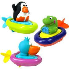 1Pza Animal Bebé Baño de presión y Avanzar cuerda agua Flotar Bote Juguete