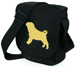 Sharpei Bags Metallic Gold / Silver on Black Shoulder Bags Shar Pei Mothers Day