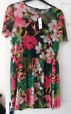 BNWT George tropical flowers layered dress - size 10 RRP £16