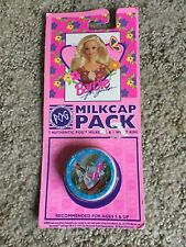 NIP Barbie Never Opened 7 Pog Milkcap Pack Plus 1 Authentic WPF Kini Slammer NEW